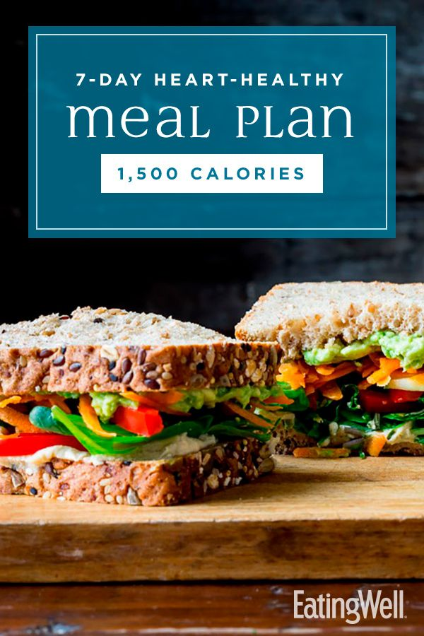 7-Day Heart-Healthy Meal Plan: 1,500 Calories | Healthy Meal Plans