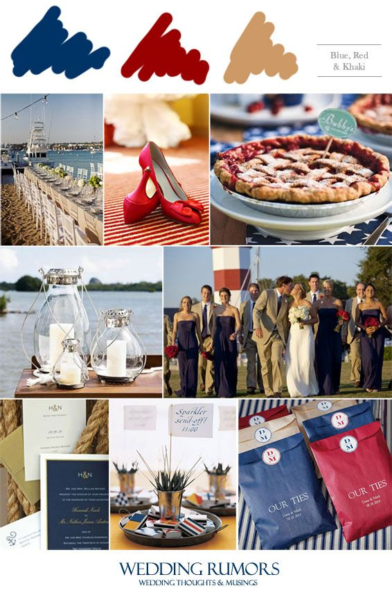 Cherry Pie, Candy Buffet Wedding Bags, Navy Blue a& Khaki Wedding Party, Red Wedding Shoes, Beach Table Setting, Wedding Sparklers, Nautical Wedding Invitations, Glass Centerpieces.