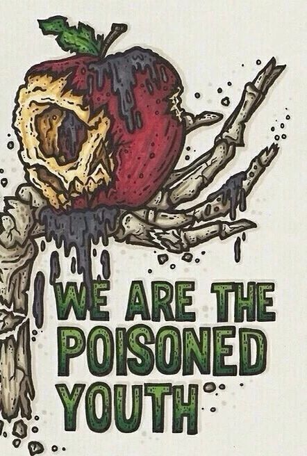 """Centuries """"We are the poisoned youth"""" lyric art"""