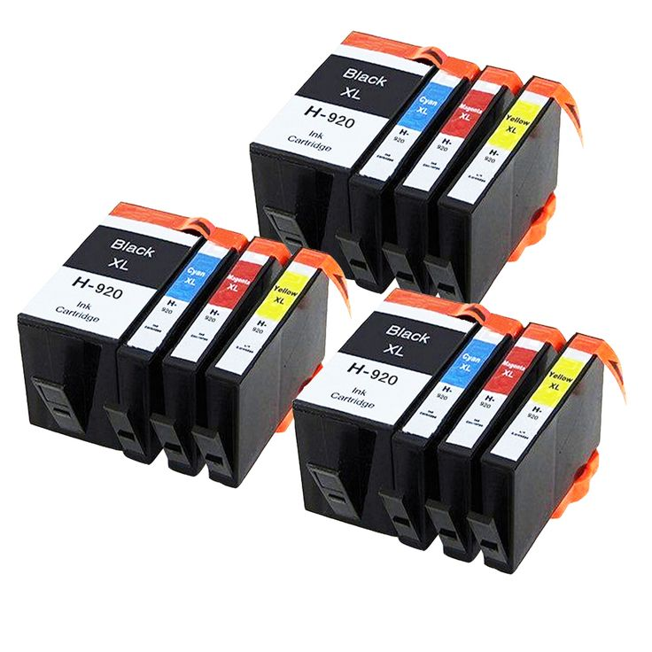 12 Compatible Ink cartridge for HP 920 XL Officejet 6000 6500 6500A 7000 7500A Printer (WITH CHIP)