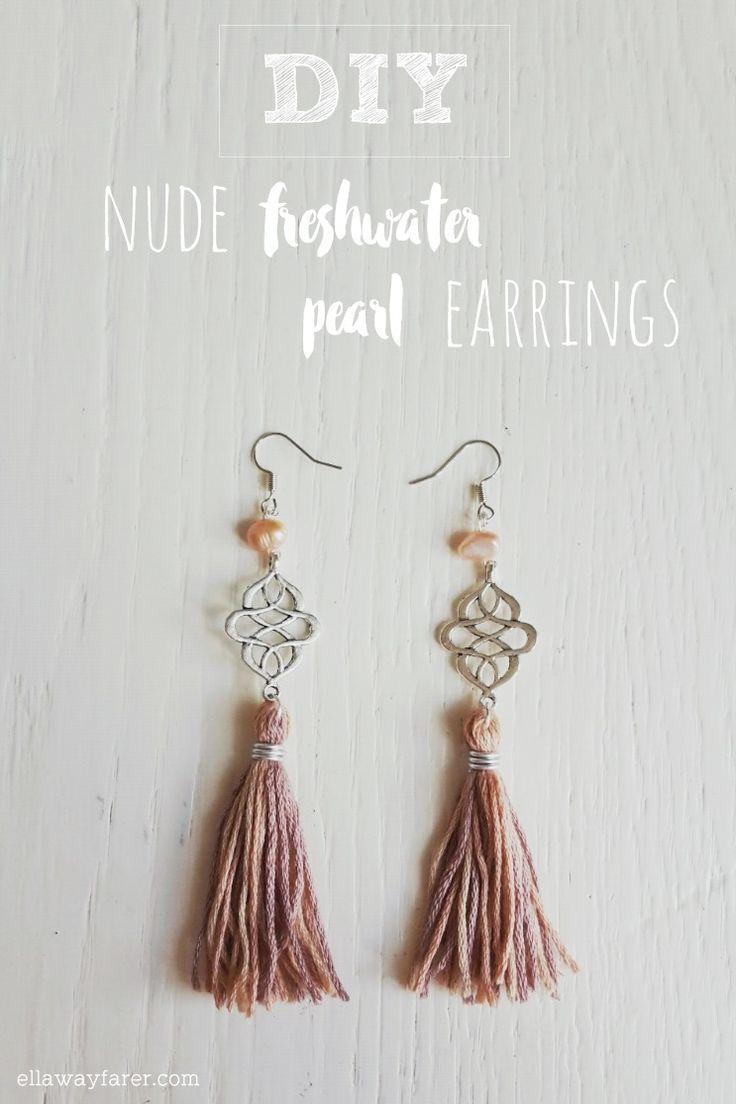 Beautiful Tassel Earrings with freshwater pearls! Super easy DIY! | #diyjewelry #tassels #pearls
