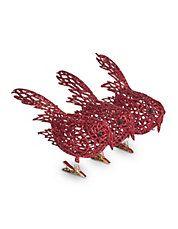 Set of Three Red Bird Clips