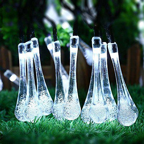 mabor luz de decoracin exterior lampara decorativa de jardin cadena m de leds luz solar impermeable resistente a sol y alta temperatura modos