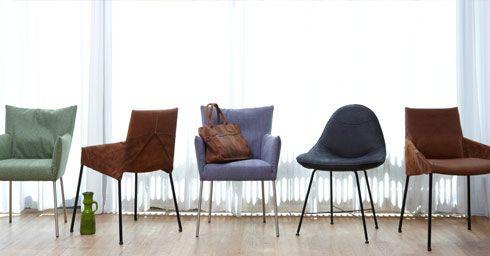 Verschillende eetkamerstoelen van Label. Label is gespecialiseerd in het ontwerpen en produceren van hoogwaardige gestoffeerde zitmeubelen. Meubelen zonder opsmuk en met een eigen karakter. En meubelen die met liefde voor het vak zijn ontworpen. Kenmerkend voor Label zijn het gebruik van eerlijke materialen, een duidelijke vormgeving en hoogwaardig zitcomfort. De meubelen van Label worden wereldwijd verkocht. Verkrijgbaar bij Gilsing Wonen in Zevenaar. http://www.gilsingwonen.nl/merken/label
