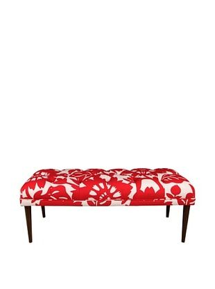 51% OFF Skyline Furniture Tufted Bench with Cone Legs, Gerber Cherry
