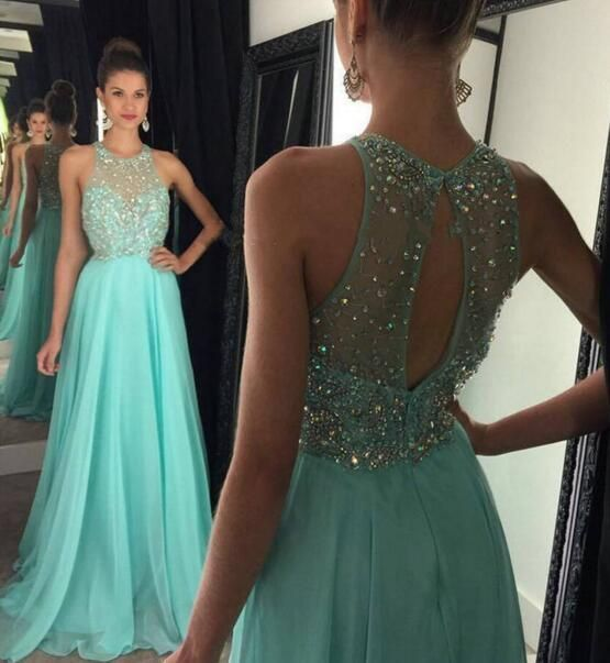 Prom Dresses,Hot Evening Gowns,Simple Formal Dresses,Prom Dresses,Teens Fashion Evening Gown,Beadings Evening Dress,Party Dress,Chiffon Prom Gowns PD20184068 #TeenFashion