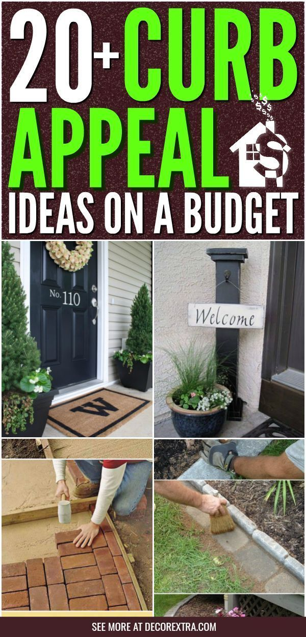 20 Easy Diy Curb Appeal Ideas On A Budget That Will Totally Transform Your Home Landscaping Backyard On A Budget Diy Curb Appeal Budget Backyard