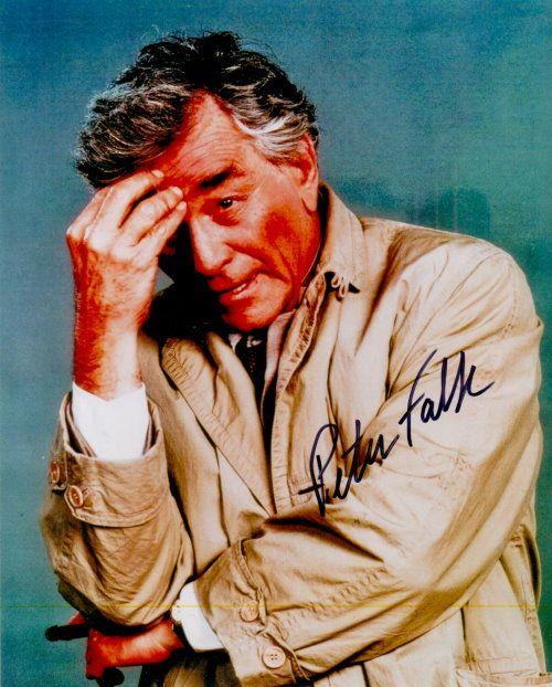 Peter Falk – Original signiertes Großfoto ca. 20x25cm des bekannten Darstellers von INSPEKTOR COLUMBO. www.starcollector.de