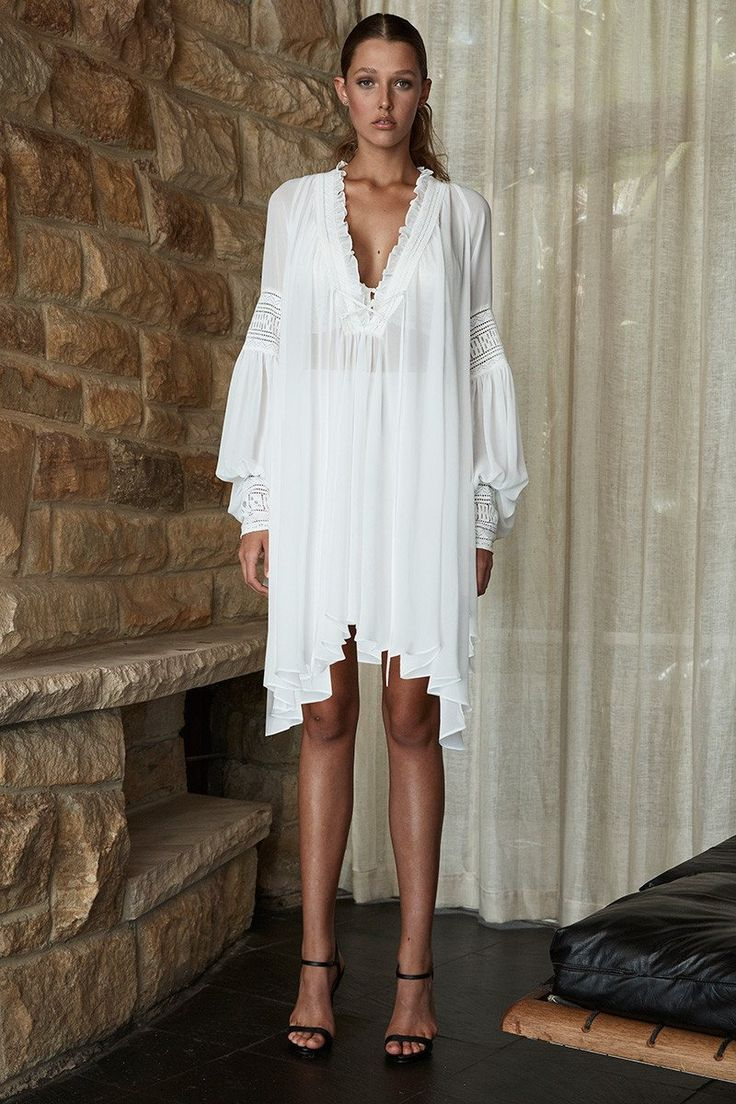 Shona Joy - Stevie Oversized Tunic White