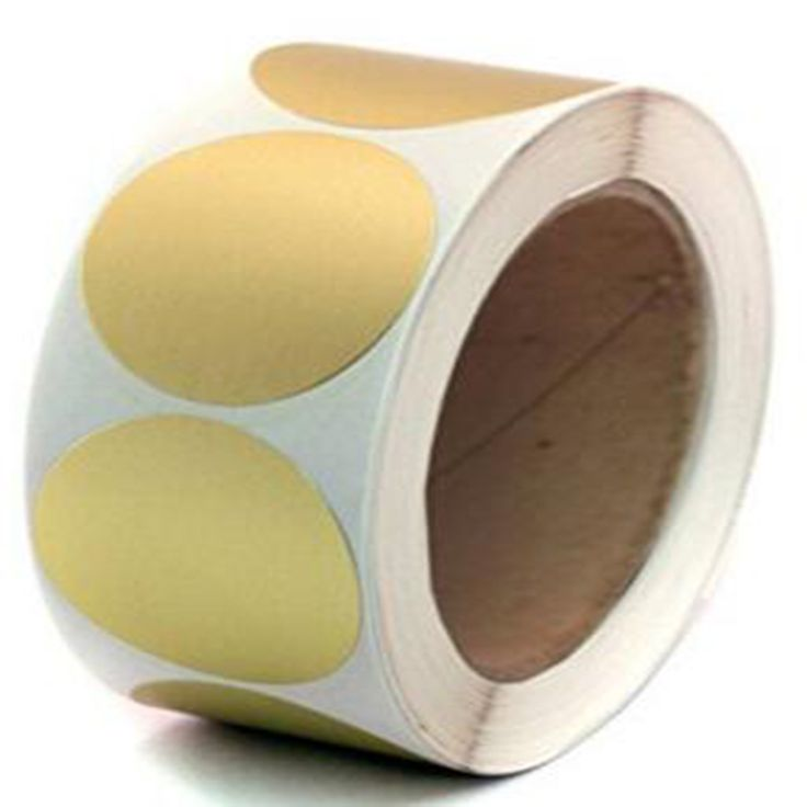 """2""""paper copper Metallic Gold Color code Dot Sticker Labels  500/roll Permanent self-Adhesive sticker Write on Surface"""