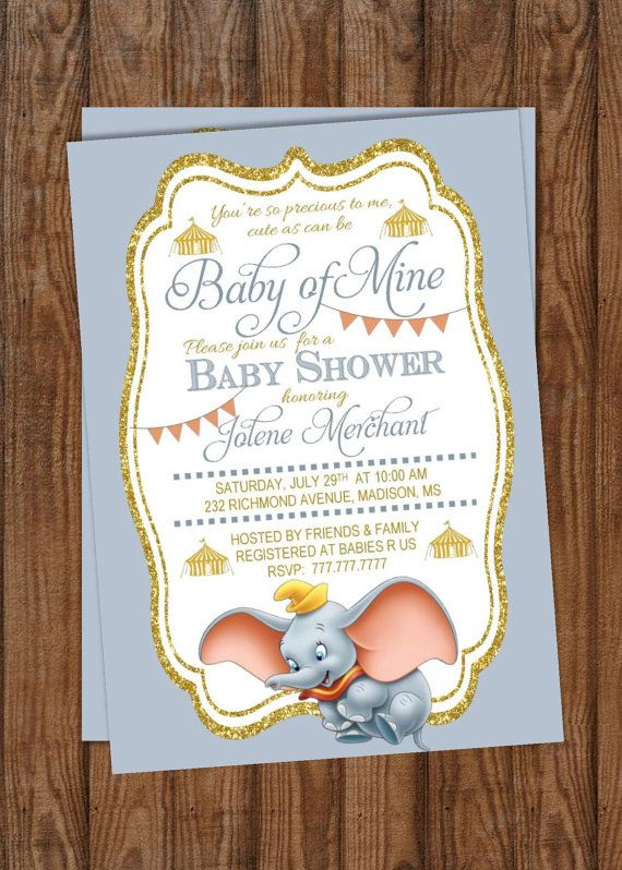 By PerfectedbyGrace On Etsy. Find This Pin And More On Dumbo Baby Shower ...