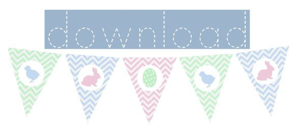 easter bunting {free printable} by http://titatoni.blogspot.de/
