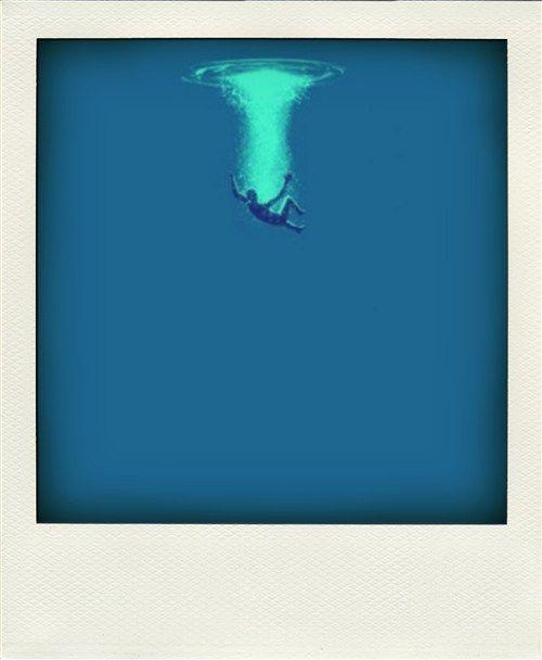 Blue plunge.