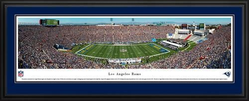 Los Angeles Rams Panoramic Picture Deluxe Matted Frame
