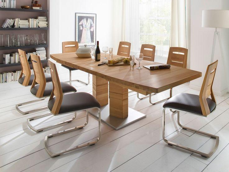 Calvaro esstisch massivholztisch bootsform 140x90 cm for Design massivholztisch