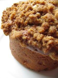 Apple Coffee Cake Muffins Muffin ingredients: 1/2 C butter, softened 1 1/2 C brown sugar 2 eggs 2 C flour 1/4 tsp baking soda 1/2 tsp baking powder 1/2 tsp salt 1 tsp cinnamon 1 C plain yogurt 2 C apples