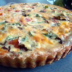 Quiche vegetariano especial @ allrecipes.com.br - Não tem uma vez que eu faça essa receita de quiche de espinafre, que ele não seja devorado. Espero que você goste, é um pouco diferente, mas muito saboroso.