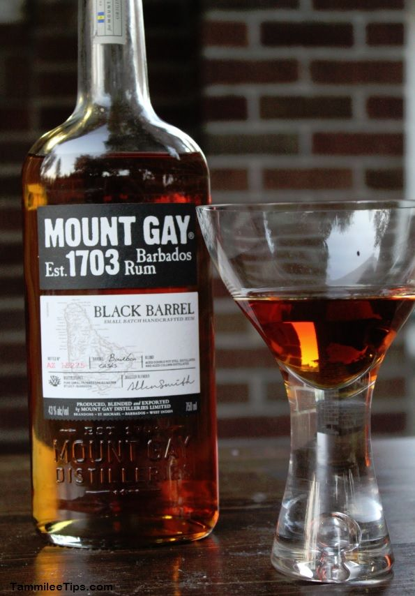 Maple Old Fashion with Mount Gay Black Barrel Rum