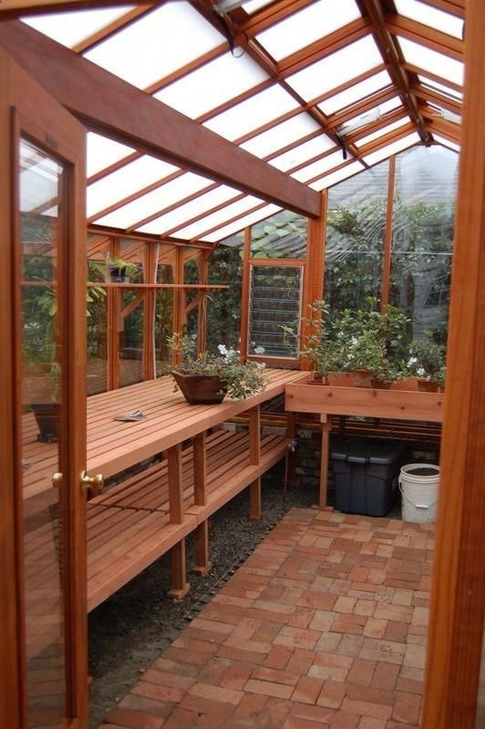 Shed DIY - Interior of the 12x16 Garden Deluxe greenhouse Roof has