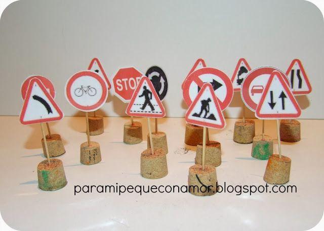Para mi peque con amor: Señales de tráfico para jugar