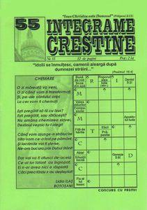 """Integrame Creștine, nr. 55 - Numărul 55 al revistei """"Integrame Creștine"""" conține în cele 32 pagini ale sale, integrame, careuri cu cuvinte încrucișate, enigmistică, sudoku și diferite jocuri care îți pun la încercare min... - http://www.carti-duhovnicesti.ro/-integrame-cre537tine-nr-55-p-689.html"""
