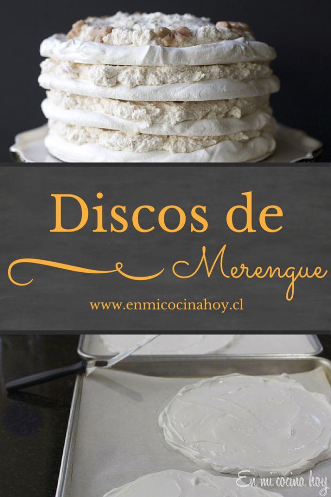 Aprende a hacer discos de merengue para tus tortas. Una receta paso a paso que resulta.