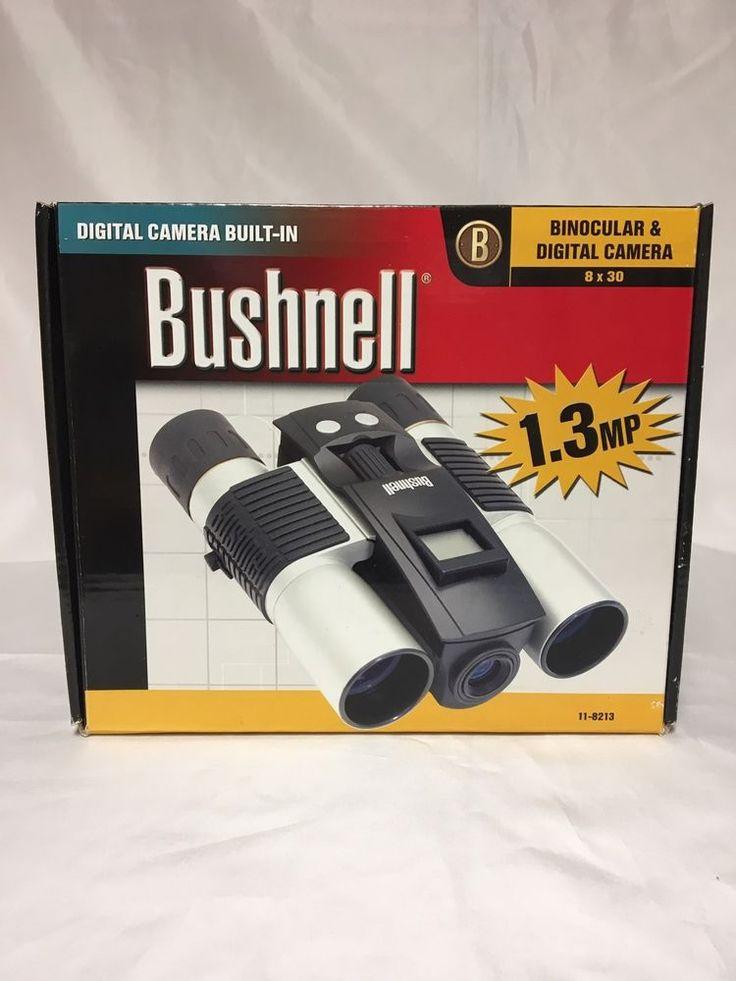 BUSHNELL BINOCULARS WITH DIGITAL CAMERA 8X30 1.3MP  MODEL #11-8213 #Bushnell