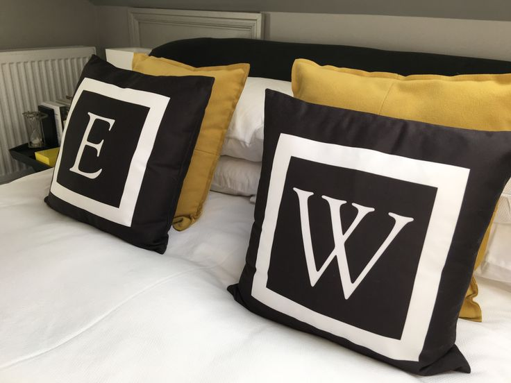 #monogrammed #silk #cushions #battersea #conversion by www.thebrownhouseinteriors.com