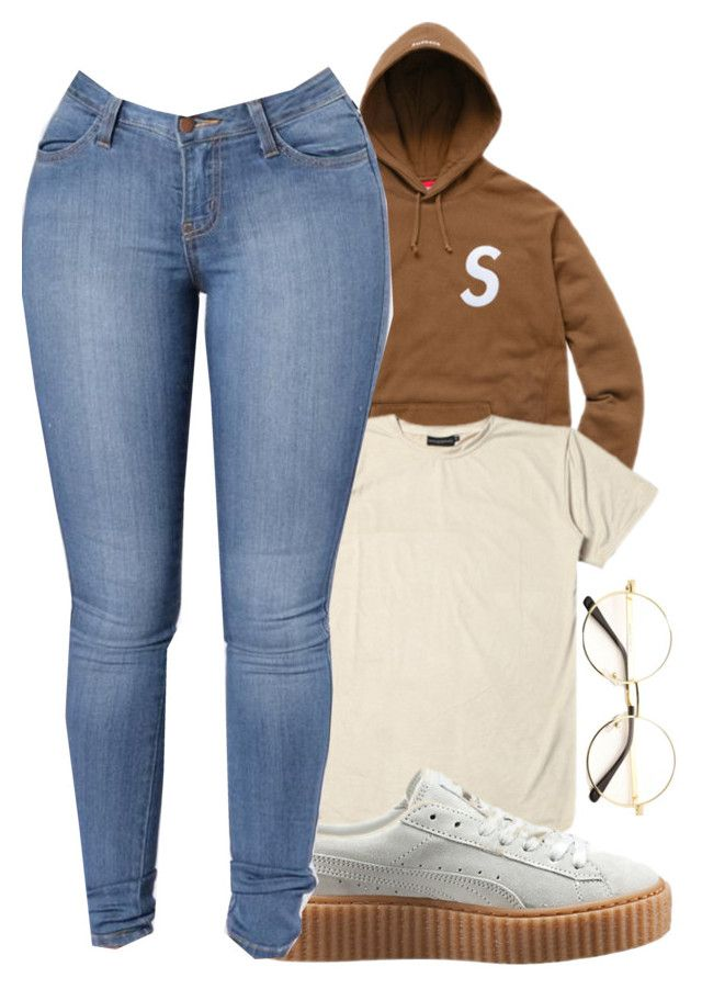 """Supreme ⭐️"" by melaninaire ❤ liked on Polyvore featuring Puma"