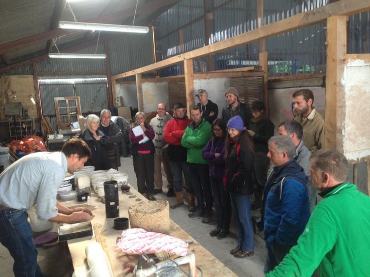 Learning all about lime plaster on one of our traditional building courses.