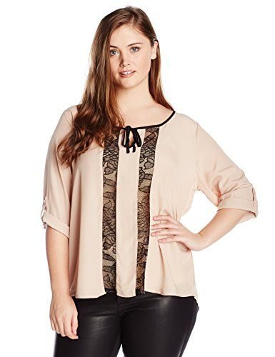 Wear To Work Anja Top with Lace Insets www.weartowork.us #weartowork #Blouse