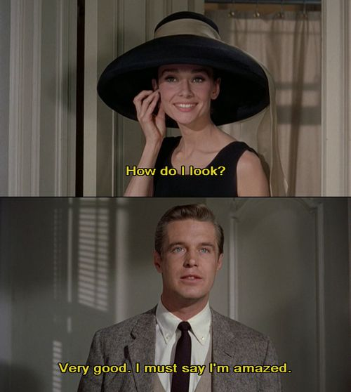 Breakfast at Tiffany's- I love this