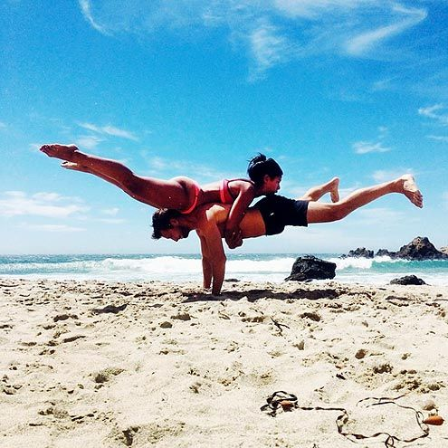 156 best couples yoga poses images on pinterest  couple