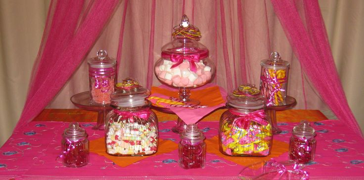 Bollywood party candy buffet. Mmmm! www.facebook.com/easybreezyparties #Bollywood #kidsparty #candybuffet #easybreezyparties
