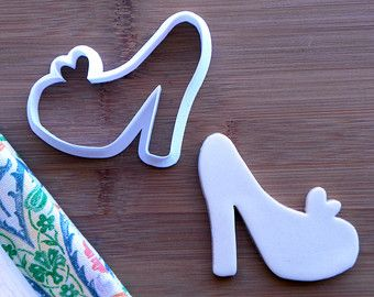 High Heel Cookie Cutter. Glass Slipper Cookie Cutter. Birthday Cookies. Princess Cookie Cutter. Shoe Cookies. Baking Gifts. Fondant Molds.