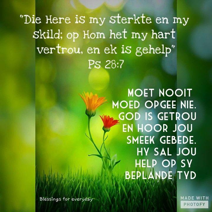 Moet nooit opgee nie..God is getrou
