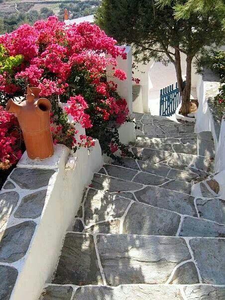 Down the steps.... Sifnos island #Greece