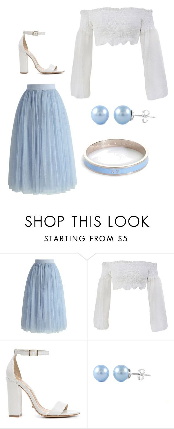 """Blue Sunday"" by drizella ❤ liked on Polyvore featuring Chicwish, Schutz and Whistle & Bango"