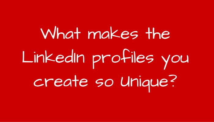 """Last night I received this question from one of my newest LinkedIn Connections:  """"What makes the LinkedIn profiles you create so unique?""""  First of all great question! A question that gave me the inspiration to create this post!  Let me answer by outlining the detailed process that we go through when we help optimize a LinkedIn Profile https://www.linkedin.com/pulse/what-makes-linkedin-profiles-you-create-so-unique-dennis-koutoudis?trk=prof-post"""
