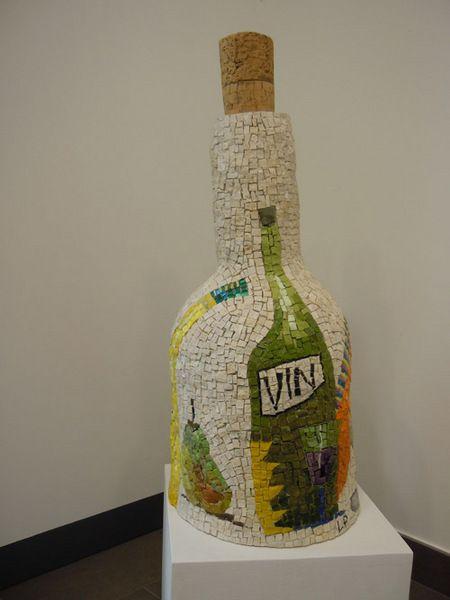 Vin | Scultura in mosaico. marmi, smalti, roccia, ori.