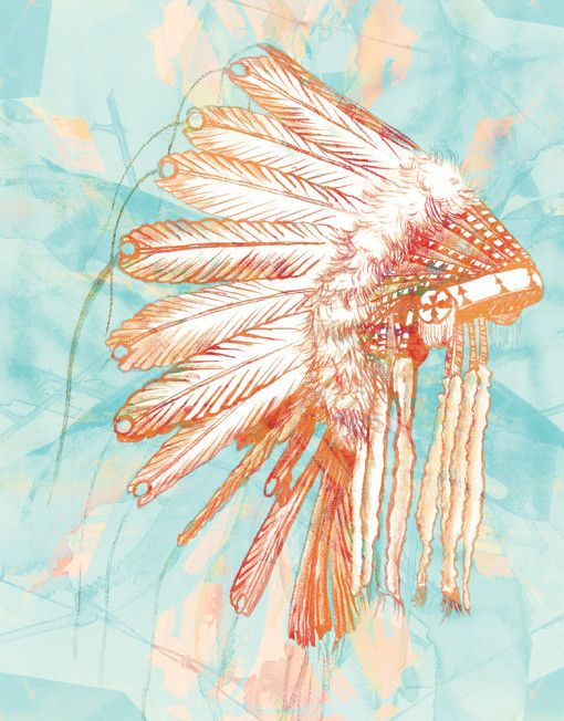 Mint Green - Indian Headdress Canvas - 40 x 55cm , $110.00 (http://www.mintgreen.com.au/indian-headdress-canvas-40-x-55cm/) Perfect for a boys room