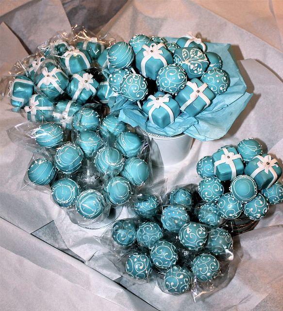 Tiffany Cake Pops by PetiteDelightsbyMichele, via Flickr