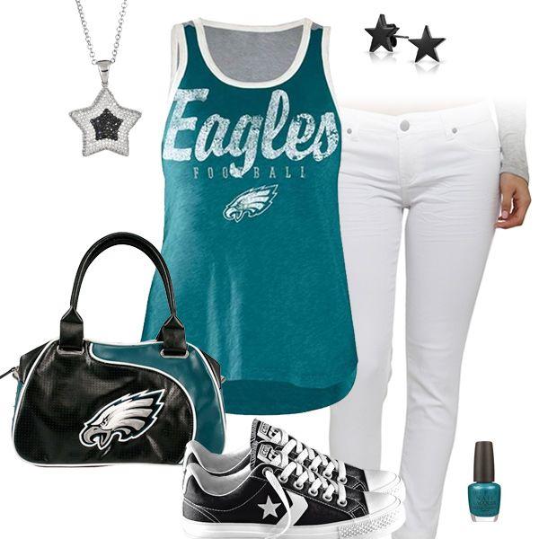 Philadelphia Eagles All Star Outfit | Philadelphia Eagles Fashion Style Fan Gear | Pinterest ...