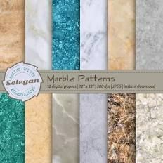 "marble digital paper, "" Marble Patterns "", marble decor ..."