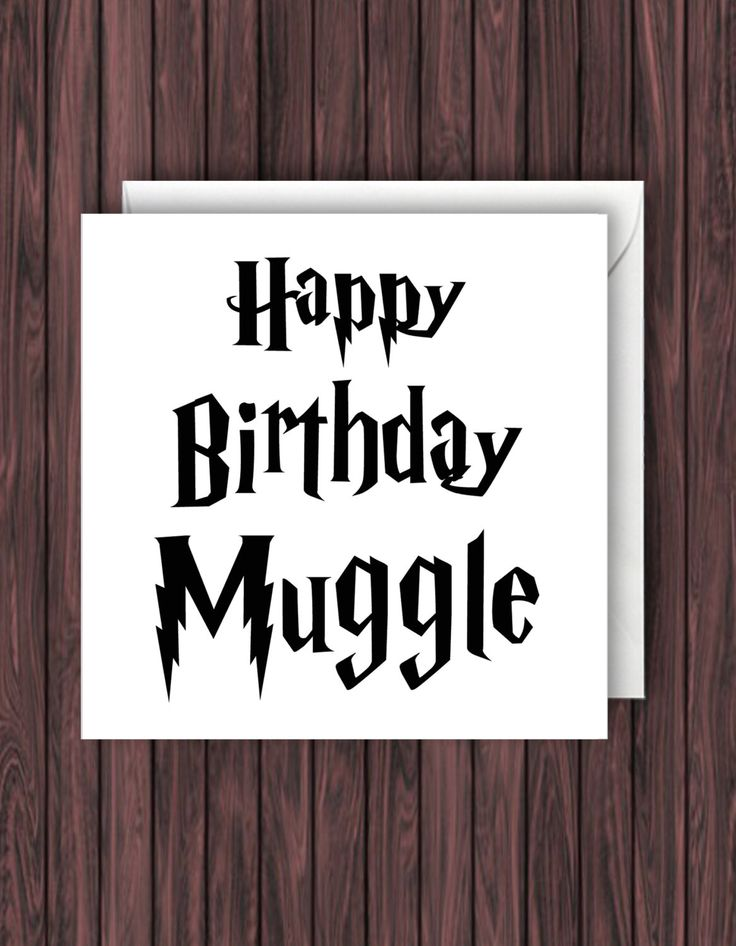 Birthday Muggle. Harry Potter Birthday Card. Geek Blank Card. Funny Greetings Card. by TheDandyLionDesigns on Etsy https://www.etsy.com/uk/listing/471721215/birthday-muggle-harry-potter-birthday