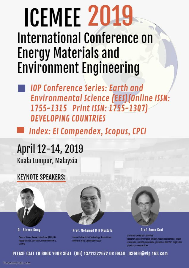 The 2019 5th International Conference on #Energy #Materials and