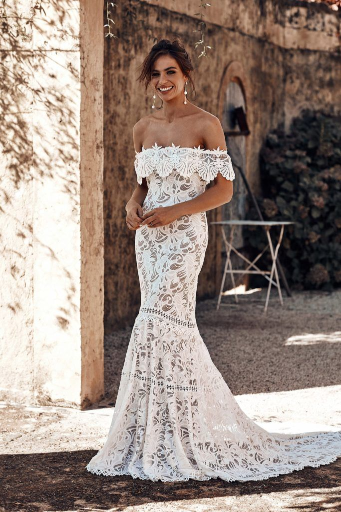 Grace Loves Lace Boho Wedding Dresses For Modern Brides Little Book Wedding Directory Lace Beach Wedding Dress French Lace Wedding Dress Dream Wedding Dresses