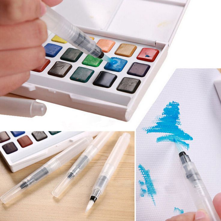 3Pcs/Set Sakura water color Round Soft BRush Pen Set Size Middle ART long Water Brush pen flat nib Watercolor Art marker-in Art Markers from Office & School Supplies on Aliexpress.com | Alibaba Group