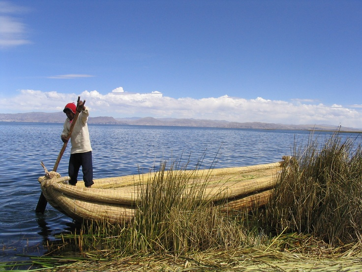 Lake Titicaca, Peru/Bolivia. The largest freshwater lake in South America and the highest of the world's large lakes