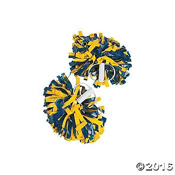 Rah rah go team! These pom-poms are fun cheerleading accessories, or use them to show your pride at pep rallies and games! Perfect for supporting any sport, ...